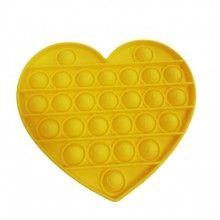Jucarie antistres EDAR® senzoriala, din silicon, impermeabila, inima, galben