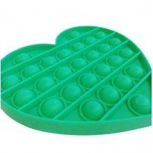 Jucarie antistres EDAR® senzoriala, din silicon, impermeabila, inima, verde