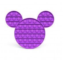 Jucarie antistres EDAR® senzoriala, din silicon, impermeabila, Mickey, mov
