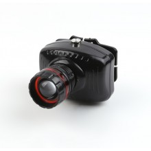 Lampa frontala EDAR® cu 1 LED, sistem de prindere reglabil, alimentare cu baterii, negru
