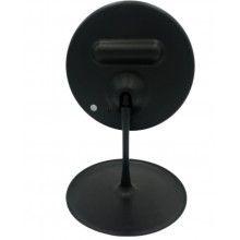 Oglinda pentru machiaj rotunda cu lumini led, incarcare USB, negru