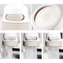 Cap de robinet ultra flexibil SIKS® pentru baterie chiuveta, cu 3 pulverizatoare, alb/bej
