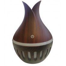 Umidificator cu ultrasunete in 7 culori, model cu liniute si rezervor 300 ml, plastic