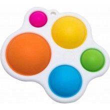 Jucarie senzoriala EDAR® pentru bebelusi, colorata, dezvoltarea ablitatilor motorice fine, multicolor