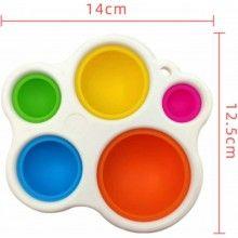 Jucarie senzoriala pentru bebelusi, dezvoltare abilitatilor motorii fine, multicolor