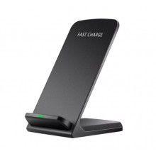 Incarcator wireless Fast charger cu doua bobine, portabil, negru