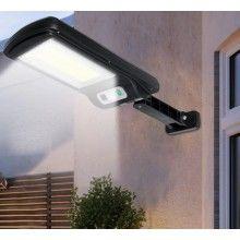 Lampa solara cu inductie, 6x LED COB, 1.5W, telecomanda, negru