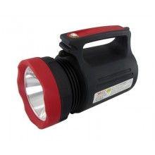 Lanterna de mana EDAR® reincarcabil, cu curea umar, pentru expeditii sau camping, negru