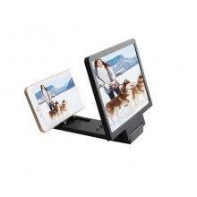 Amplificator imagine pentru telefon, lupa pentru marirea imaginilor, plastic, negru