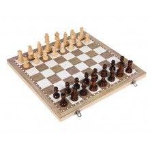 Joc educativ EDAR® 3 in 1, sah-table-dama, 34x18 cm, lemn