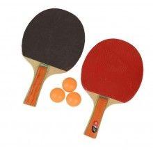 Set complet tenis de masa, 2 palete si 3 mingi