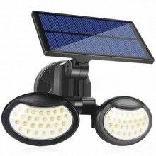 Lampa de perete cu incarcare solara, 56 leduri, senzor de miscare