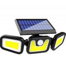 Lampa de perete cu incarcare solara, 74 leduri, senzor de miscare