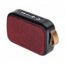Boxa portabila EDAR® baterie reincarcabila, cablu USB, mini difuzor, rosu