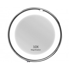 Oglinda pentru cosmetica EDAR® cu iluminare led, marire 10x, oglinda make up portabila