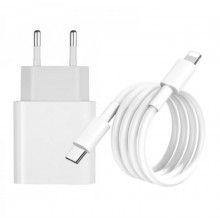 Set 2 in 1 incarcator tip-C cu cablu de incarcare lightning USB-C, 20W