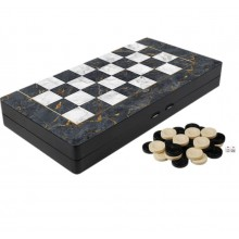 Joc de societate table, backgammon, joc de strategie, model culoare marmura