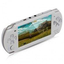Consola portabila SIKS® jocuri pentru adulti si copii, de buzunar, jocuri video, alb