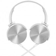 Casti audio SIKS® extra bass, conectare cu fir, alb