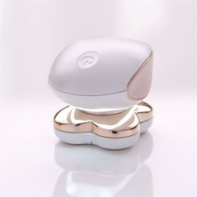 Epilator electric SIKS® fara durere cu LED si acumulator pentru corp, incarcare USB, portabil, alb