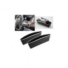 Set 2 organizatoare SIKS® pentru masina, negru, practic, plastic