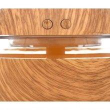 Umidificator rotund SIKS® pentru aromaterapie, difuzor ulei esential, culoare lemn deschis, 300 ml