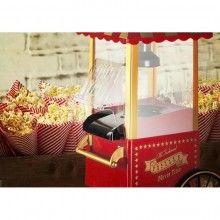 Aparat SIKS® de facut popcorn fara ulei doar cu aer cald, usor de folosit, Rosu, 1200W