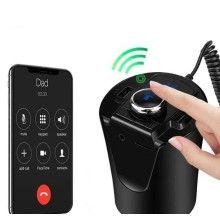 Modulator SIKS® auto multifunctional, dual USB, intrare AUX, FM, Bluetooth, culoare negru
