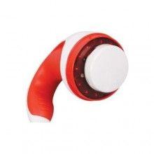 Aparat SIKS® de masaj anticelulitic, cu functie de infrarosu, cu 2 capete de masaj interschimbabile, rosu