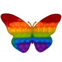 Jucarie antistres EDAR® senzoriala, din silicon, impermeabila, fluturas, multicolor