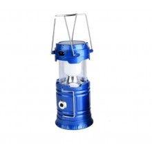 Lampa solara SIKS® reincarcabila, potrivit pentru camping, vacante, pescuit, albastru