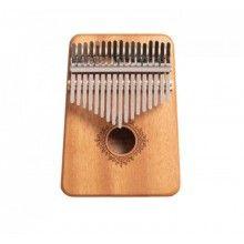 Instrument muzical EDAR® din lemn, Kalimba, 17 note, accesorii, culoare lemn natur