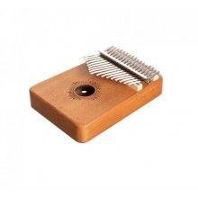 Instrument muzical SIKS® Kalimba, 17 note, confectionat din lemn, cu accesorii
