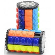 Jucarie antistres EDAR® puzzle rotativ turnul babilon, joc interactiv, multicolor