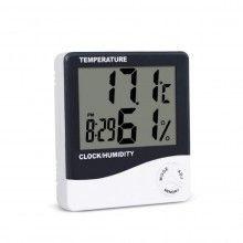 Termometru digital EDAR cu higrometru, ceas, alarma, calendar, pentru birou, baterie inclusa