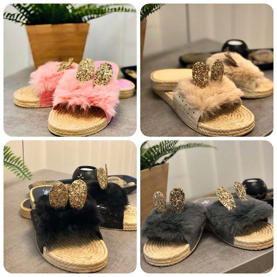 papuci cu puf